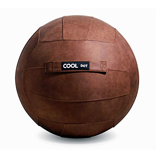 Cooldot yoga ball for adults sitting ball chair with cover & handle includes exercise ball and pump for home, office, pilates, yoga
