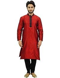 Atasi Conjunto de Pijama Kurta de para Hombre. Camisa de Bollywood etnica  de Dupon Marron c9879051f4e