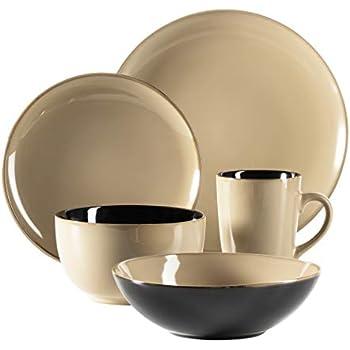 MÄSER 931239 Serie Scuro, Geschirr-Set bunt aus Keramik