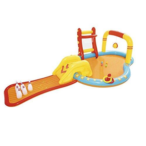 Kann Wasser Spritzen Wasserrutsche Planschbecken Große Kindervilla Aufblasbarer Pool Spaß Bowling Pool Größe: 435 * 213 * 117cm