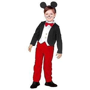WIDMANN 43879 - Disfraz de Mickey Mouse para niños, multicolor, 110 cm/3 - 4 años
