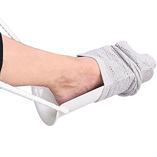 Sockenhilfe | Holeider Anziehhilfe für Kompressionsstrümpfe | Socken Anziehhilfe für Senioren | Sockenhilfe Anziehhilfe | Strümpfe Anziehhilfe für Socken mit Griffen