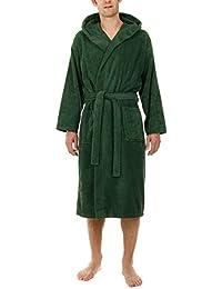 John Christian - Peignoir à capuche en éponge - Vert - 100% Coton