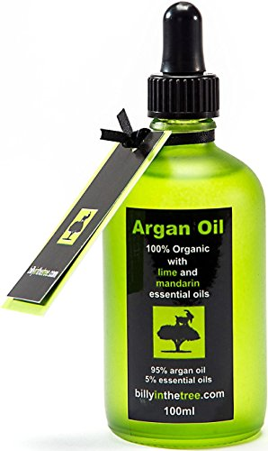 Billy in the Tree - Pure huile d'argan avec huiles essentielles de citron et mandarine - 100% Organique - Pour le visage, le corps, les cheveux - 100ml