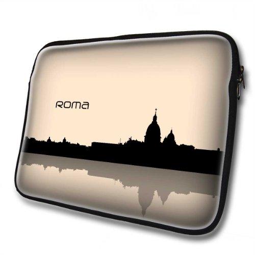 voyage-roma-designer-14-390mm-x-320mm-nero-custodia-sleeve-per-pc-con-cerniera-in-neoprene-resistent