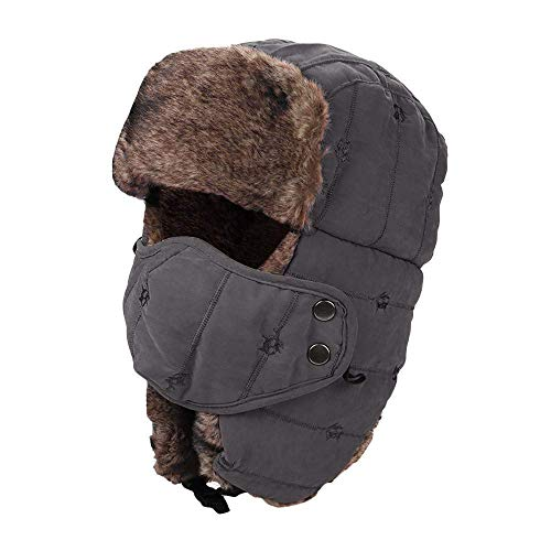 eb62908eff24c ZHRUI Unisex Warm Winter Trapper Hat Espesar Máscara a prueba de viento  Máscara a prueba de