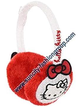 Orejeras de niño, Niña, de Hello Kitty, rojas, rosas y blancas, Talla única