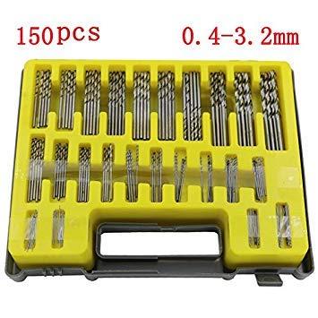 150 Stück 0,4~3,2 Mm Hss Mini Micro Bohrer Set Präzision Spiralbohrer Kit Werkzeuge Accessoris Mit Fall Für Pcb Handwerk Schmuck - Spade Bit Case Pack