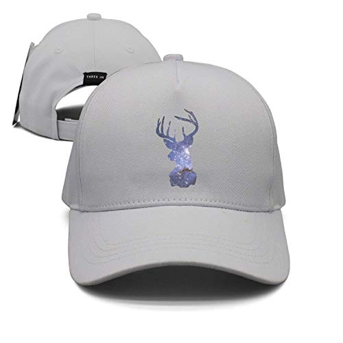 CHKWYN Beautiful Galaxy Deer Unisex Baseball Cap Snapback Hip Hop Caps Fitted Sport Sun Hats - Notre-dame-fitted Cap