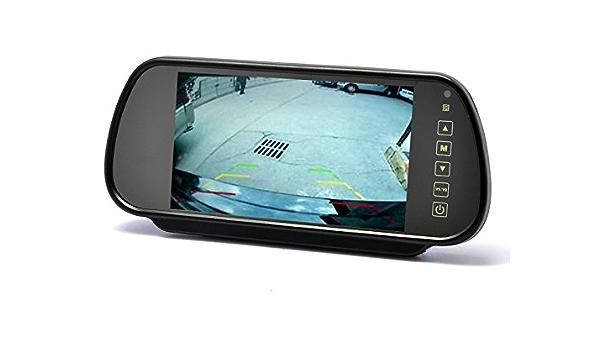 Ympa Rückfahrsystem Einparkhilfe Rückfahrkamera Nummernschild Kennzeichen Halterung 17 8 Cm 7 Zoll Inch Monitor Rückspiegel Innenspiegel Spiegel 6 Meter Kabel Nachtsicht Ir Farbe Auto Kfz Auto