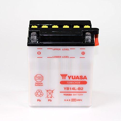 Batterie 12V 14AH YB14L-B2 Blei-Säure Yuasa 51413 ohne Säurepack Atlantic 500 PT CBR 1000 F SC24 LS 650 Savage P (Hochlenker) NP41B