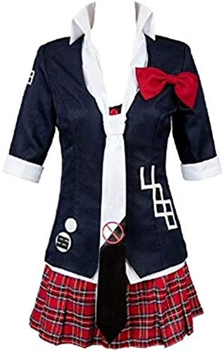 Double Villages Anime Danganronpa Junko Enoshima Cosplay Kostüm Polyester Uniform Kostüm Anzug (S) (Anime Kostüm Cosplay)
