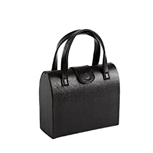 Silea 222/9623 Kelly Coffret Bijoux Simili Cuir Noir 6,5 x 17 x 14 cm
