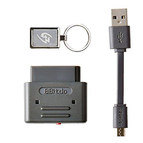 Gam3Gear 8Bitdo PS3 Dualshock 3 PS4 Dualshock 4 Wiimote Wii U Pro Controller Bluetooth Wireless Retro-Empfänger für SNES SFC mit Schlüsselanhänger (Wii-connect-system)