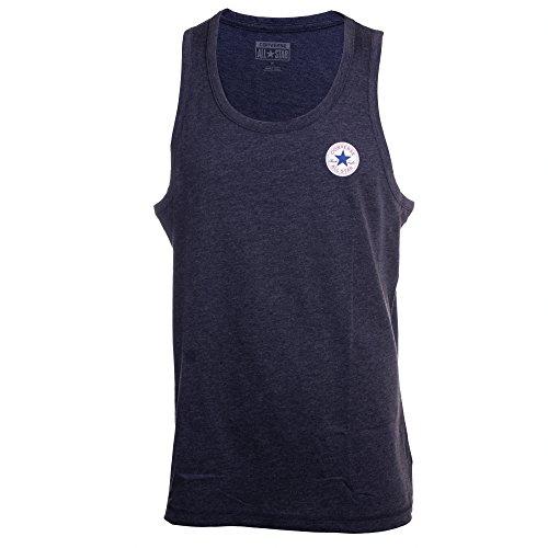Converse Uomo Left Logo Marled Vest, Blu, X-Large