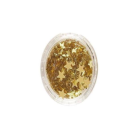 Paillettes étoiles, corps, visage et cheveux - Stargazer - doré