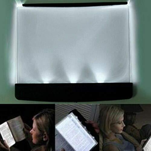Hunpta@ LED-Nachtlicht-Buch-Licht-Augenschutz-tragbares Platten-Buch-Leselampe-Taschenbuch-Licht, PageGlow LED-Leselichter (Schwarz)