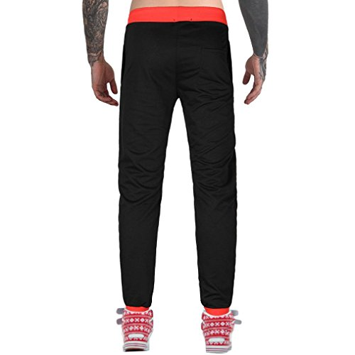 Hiroo Jogging Pantaloni Uomo Abbigliamento Sportivo Casuale Pantaloni Traspiranti Leggeri Sportivi Fitness Pantalone Harem Baggy pantaloni per uomo in Esecuzione Slim Fit Pantaloni Arancia