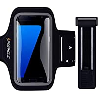 """PORTHOLIC Brassard de Sport pour Galaxy S7 S6 A5 A7 Huawei P10 P10 Lite P9, Sangle Ajustable, Porte-Clés, Fente pour Carte, Attache pour Câble, Jusqu'à 5,5"""", pour Jogging Cyclisme randonnée Marchant"""