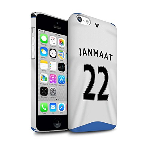 Offiziell Newcastle United FC Hülle / Matte Snap-On Case für Apple iPhone 5C / Pack 29pcs Muster / NUFC Trikot Home 15/16 Kollektion Janmaat