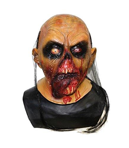 Premium Halloween Zombiemaske Maske Horror Blut Unisex Gruselige Maske - Horror ab 18 Jahren für Damen und Herren von TK-Gruppe