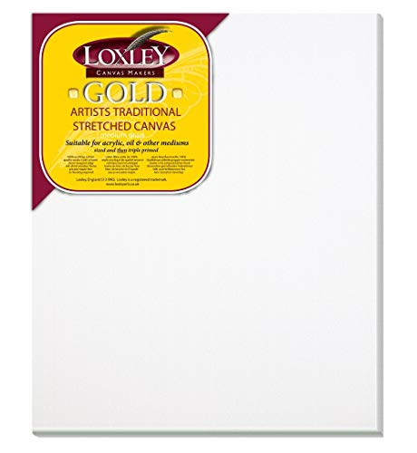 Loxley Gold LCM-1210 - Lienzo preestirado, color blanco