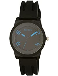 Henley HY002.6 - Reloj analógico de cuarzo para niño, correa de silicona color negro