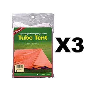 41dheQ HNoL. SS300  - Coghlan's Tube Tent Emergency Lightweight Polyethylene Camping Shelter (3-Pack)