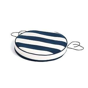 Gold Collection gardenista ® Oasis, gestreift, mit Paspelierung, 33.02 cm Garten Bistro Sessel Sitzkissen-Outdoor