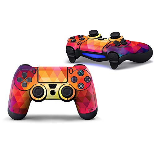Price comparison product image WELLDRESSED 2pcs Design skin for PS4 Controller Protect Film Skin Sticker For PS4 Two Wireless Remote Controller, Retail Order 2PCS