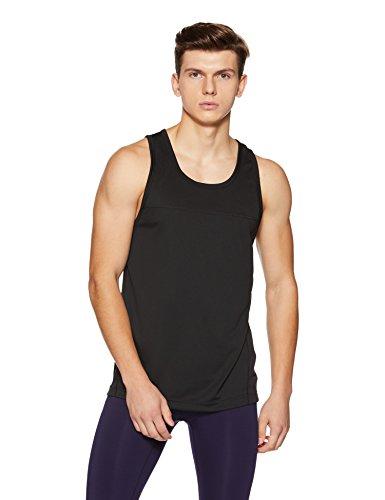 Calvin Klein Performance Men's Solid Regular Fit Active Base Layer Shirt (4MS8K103007M!_Ck Black!_Ck Black!_Medium)