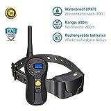 Aorula Vibra Trainer Advance Wasserdichter Ferntrainer mit 600 m Reichweite, pädagogisches Halsband mit Vibration oder Sound über Fernbedienung, Anti-Bell-Schutzart IPX7