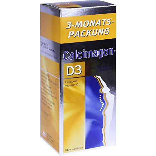 Calcium Kautabletten (Calcimagon-D3 500mg/400 I 180 stk)