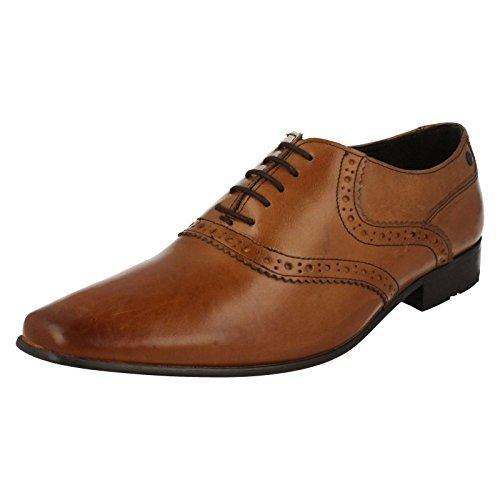 Base London , Chaussures de ville à lacets pour homme Noir noir - Waxy Tan
