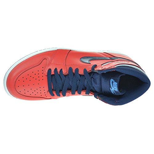 Nike Air Jordan 1 Retro High Og, Chaussures de Sport-Basketball Homme, Taille lt crmsn/mid nvy-unvrsty bl-wh