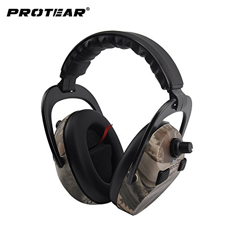 Cuffie antirumore elettroniche per tiro e caccia, cuffie protettive professionali di sicurezza con amplificazione e riduzione del rumore - nrr 23 db