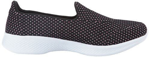 Skechers Performance Women's Go 4-Empower Walking Shoe, Black/Pink, 8.5 M US