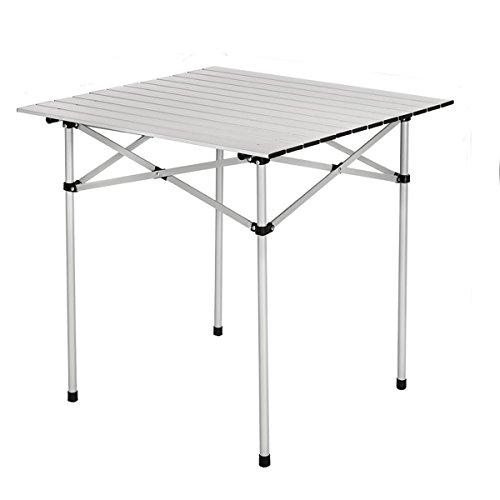 Tragbare Aluminium Camping Tisch leicht Roll Up Klapptisch mit einer Tasche für Outdoor Picknick Kochen, 70x 70x 70cm