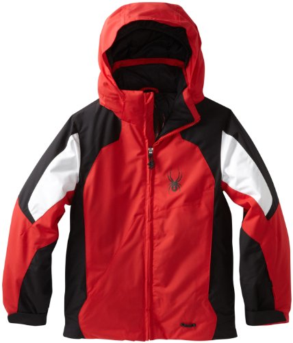 Spyder Boy 's Guard Jacke, Jungen, Rot/Schwarz/Weiß (Spyder-jungen Jacke)