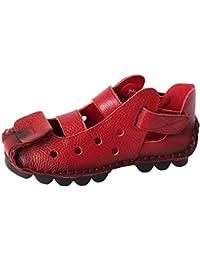 Vogstyle Damen Weinlese Handgemachtes Echtes Leder Ebene Schuhe
