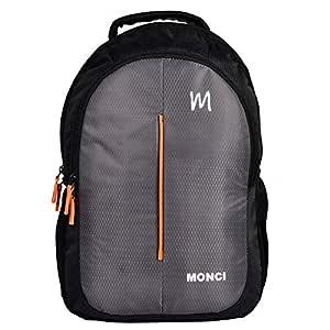 MONCI Milestone Laptop Bag for Women and Men | Backpacks for Girls Boys Stylish | Trending Backpack | School Bag | Bag for Boys Kids Girl | 15 Inch Laptop Bag | Blue (Black)