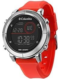 Columbia Recruit Digital Cronógrafo Hombres Reloj De 30m resistente al agua Scout CT014(negro)