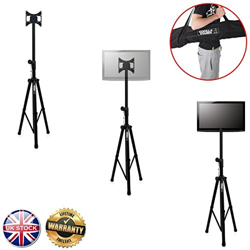 gorilla-gtv-100-portable-tripod-tv-floor-stand-with-vesa-mounting-bracket-for-17-37-screens