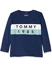 Tommy Hilfiger Boy's Ame Multicolor Logo CN Tee L/S Long Sleeve Top