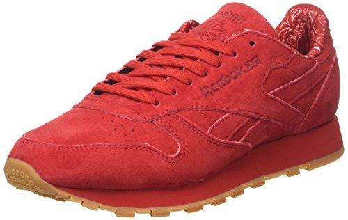 Reebok Cl Leather Tdc, Scarpe da Corsa Uomo Rosso (Scarlet/White-Gum)