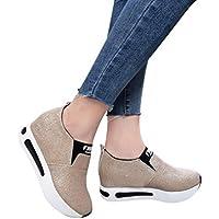 Zapatos mujer plataforma, ❤️Sonnena Zapatos Casuals de moda de mujer Botas de cuña para mujer Zapatos de plataforma Botas de tobillo con cordones Calzado Zapatos al aire libre zapatillas Mujer