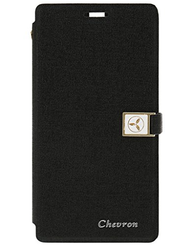 Chevron Royal Armour Flip Cover With Stand Mode for Microsoft Lumia 535 (Black)  available at amazon for Rs.199