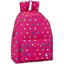 Safta Mochila juvenil Day Pack Ucb Dots Pink Oficial 330x150x420mm