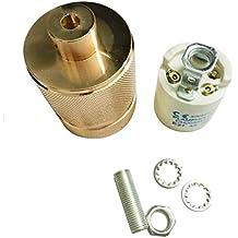 AC250V 4A Tornillo E27 Portalámparas Lámpara Luz Doble Cabezas Aluminio T