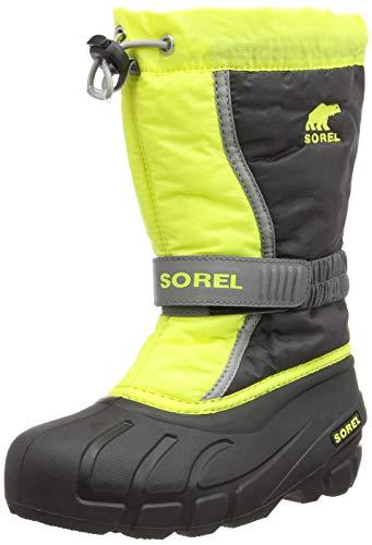 Sorel Kinder Youth Flurry Stiefel, dunkelgrau/gelb (warning yellow), Größe: 34 -